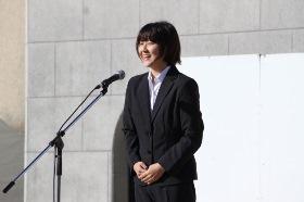 大学祭実行委員長による開会宣言