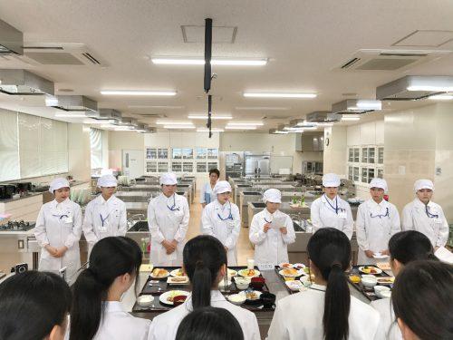 食物栄養専攻「第2回オープンキャンパス」体験授業の様子