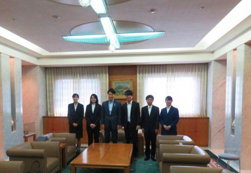 中国「清華大学」への留学生が鹿児島県知事を表敬訪問しました