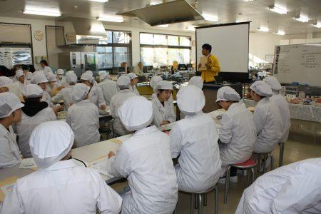 「給食調理学実習」かんしょでんぷんに関する講座