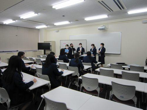 現代ビジネスコース「学芸プロデュース1年生への説明会」